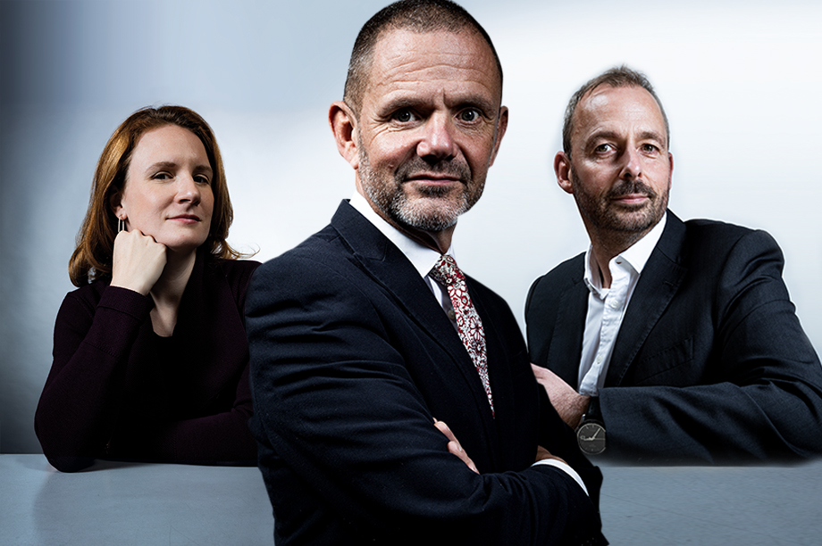 Sarah Cary, Andy Millard and Mark Jaggard ©Julian Dodd