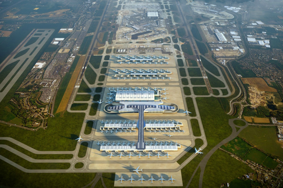 An artist's impression of plans for Heathrow Western Hub. Image: Arora Group