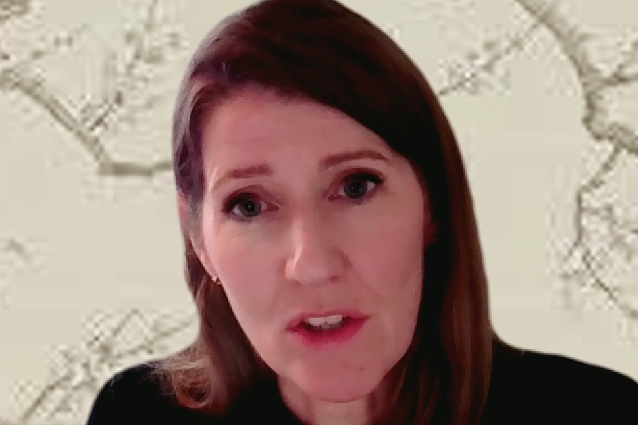 Joanna Averley speaking at the virtual conference - image: LDPF