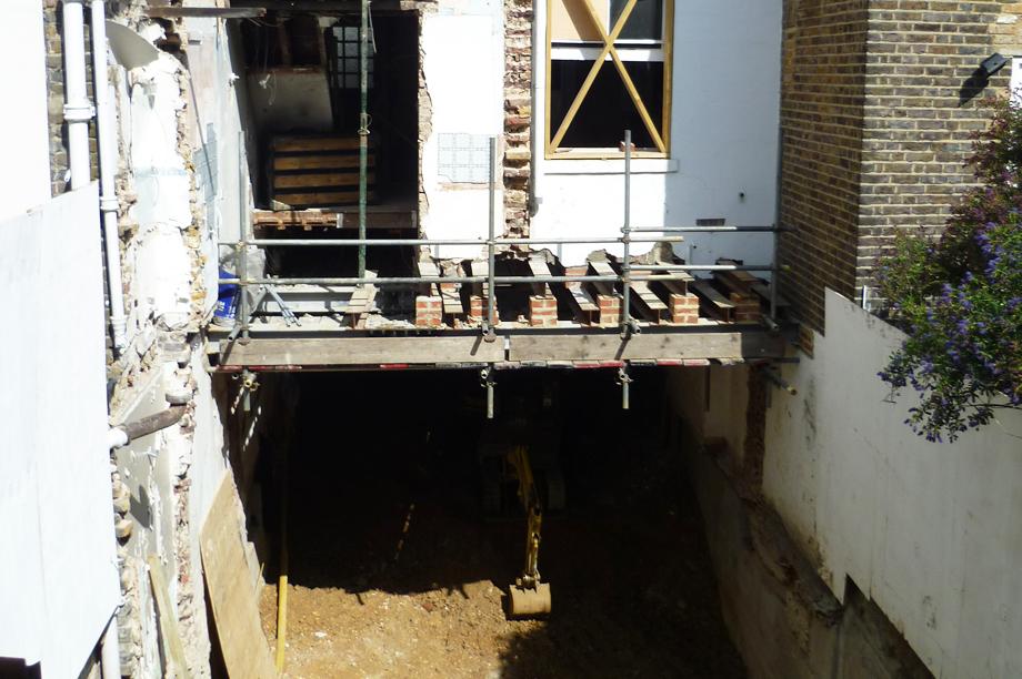 Basement excavation, pic courtesy Charlie Dave via Flickr