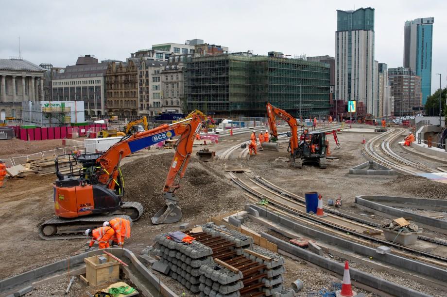 Recent railway construction in Birmingham - image: Magnus Hagdorn / Flickr (CC BY-SA 2.0)