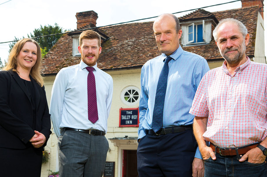 Supportive approach on village homes: Linden Homes senior land manager Sharon Eckford, WYG senior planner Jacob Goodenough, WYG director Martin Hawthorne and Broughton Parish Council vice-chairman Graham Cowley