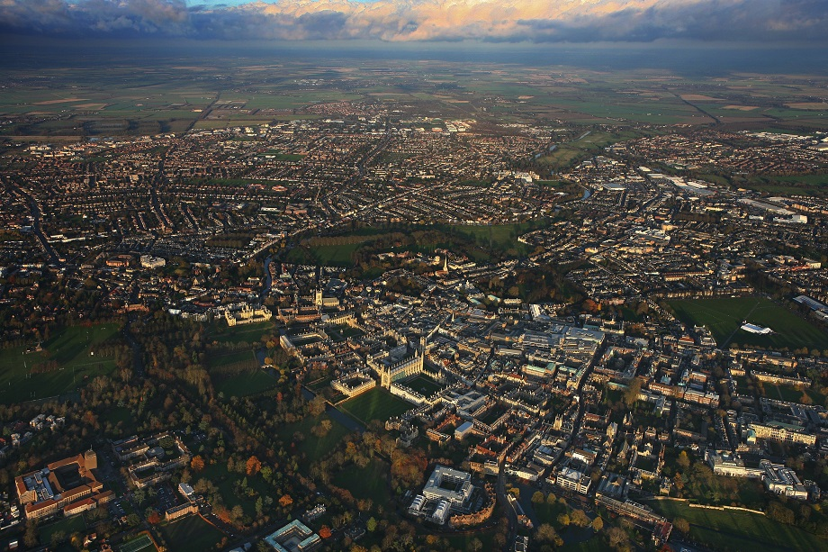 An aerial view of Cambridge. Pic: Getty Images