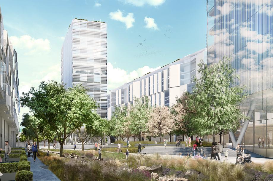 An artist's impression of plans for Charlton Riverside