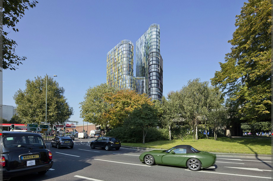 Plans refused: a visualisation of the proposed Chiswick Curve scheme. Pic: Egret West