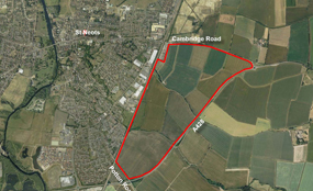 The location of the proposed St Neots urban extension
