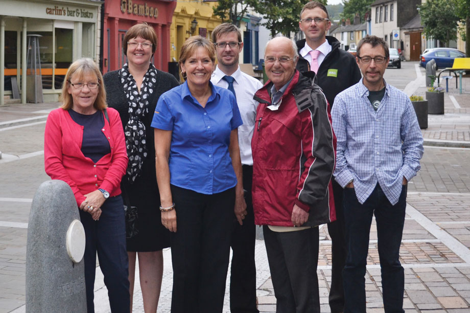 NDO team: (back) town clerk Sheila Brown, Allerdale Council senior planner Steve Robinson and Stuart Woodall, Cockermouth Chamber of Trade; (front) town councillors Isabel Burns, Julie Laidlow and Len Davies with Civic Trust adviser Darren Ward