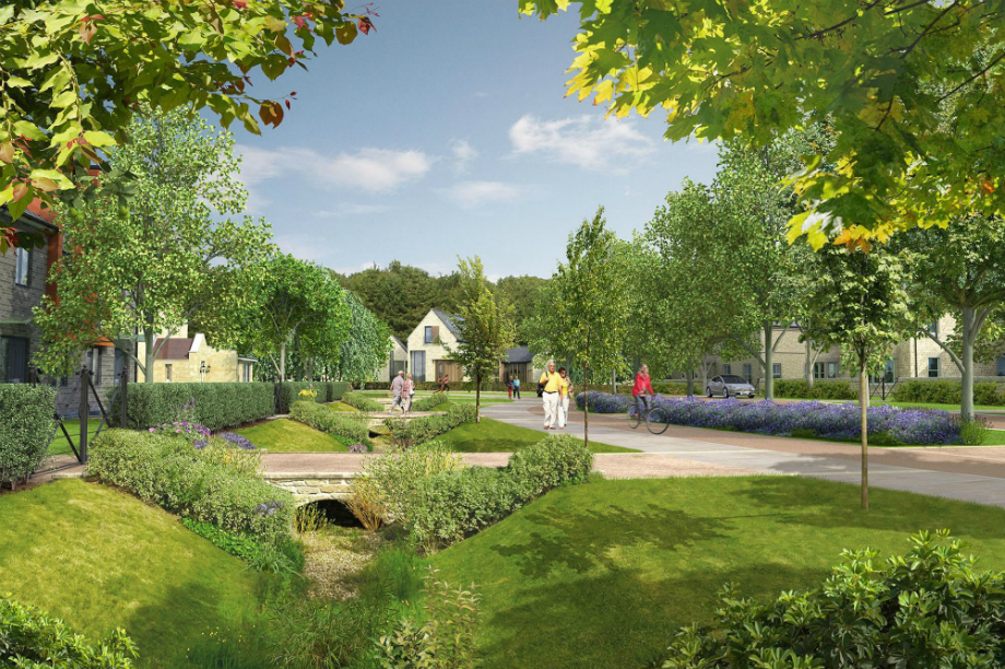 An artist's impression of plans for Dissington Garden Village.