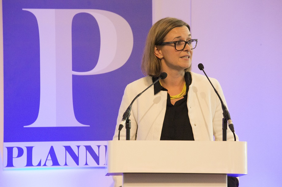 Emma Cariaga speaking at Planning's 2016 Planning for Housing conference. Pic: Julian Dodd