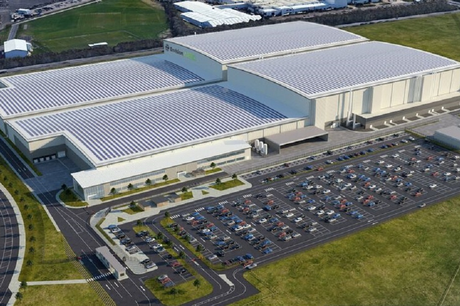 Artists impression of the development. Pic: Envision AESC