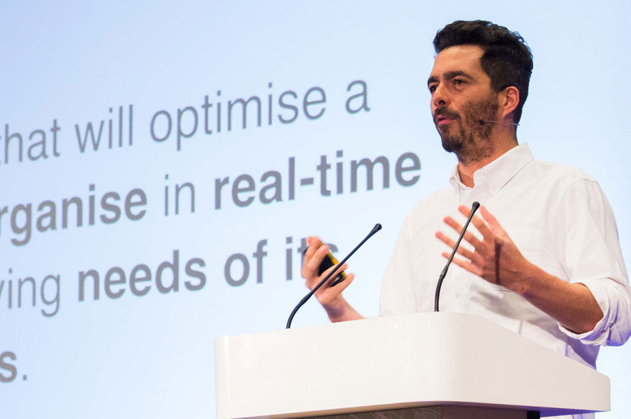 Euan Mills speaking at the Planning for Housing conference yesterday
