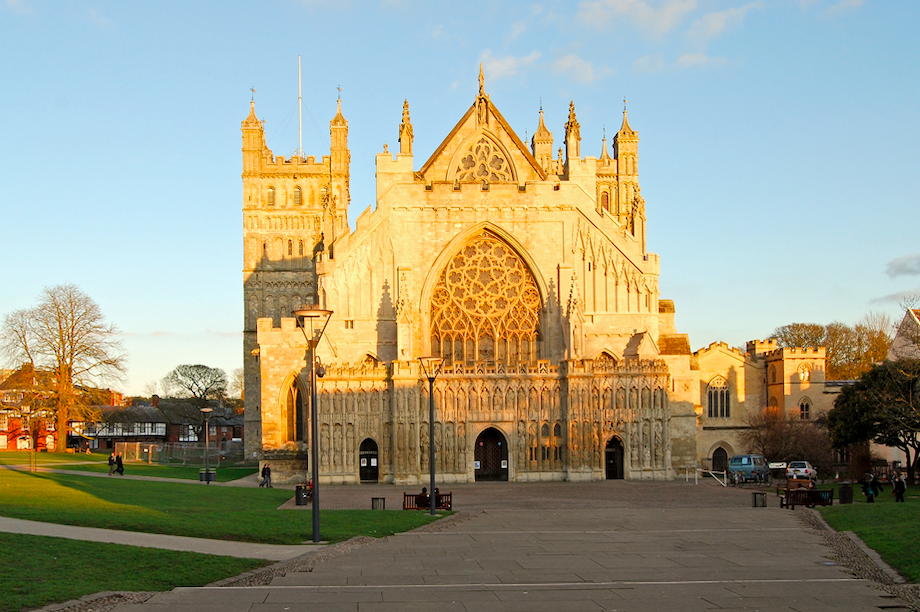 Exeter Cathedral in the South West of England