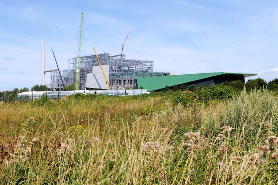 Construction of an energy-from-waste plant - image:  David Dixon / geograph (CC BY-SA 2.0)