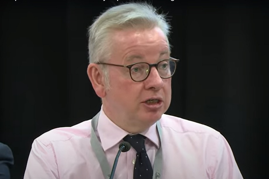 Michael Gove at the Conservative Home and New Social Covenant Unit fringe event yesterday. Pic: Conservative Home/YouTube