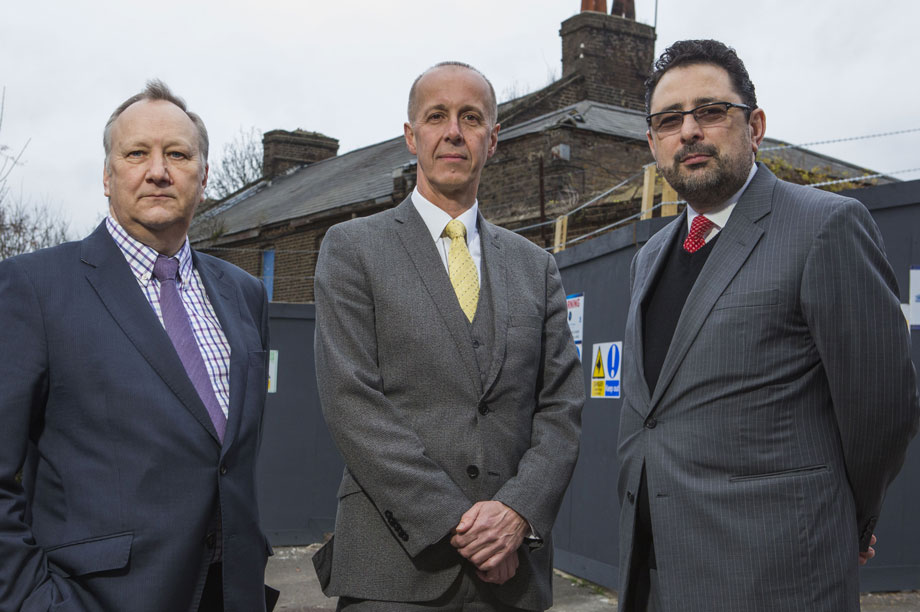 Teaming up: (left to right) chair of Kent Developers Group Nick Fenton, head of planning at Medway Council Dave Harris and Brian Horton of Kent Housing Group