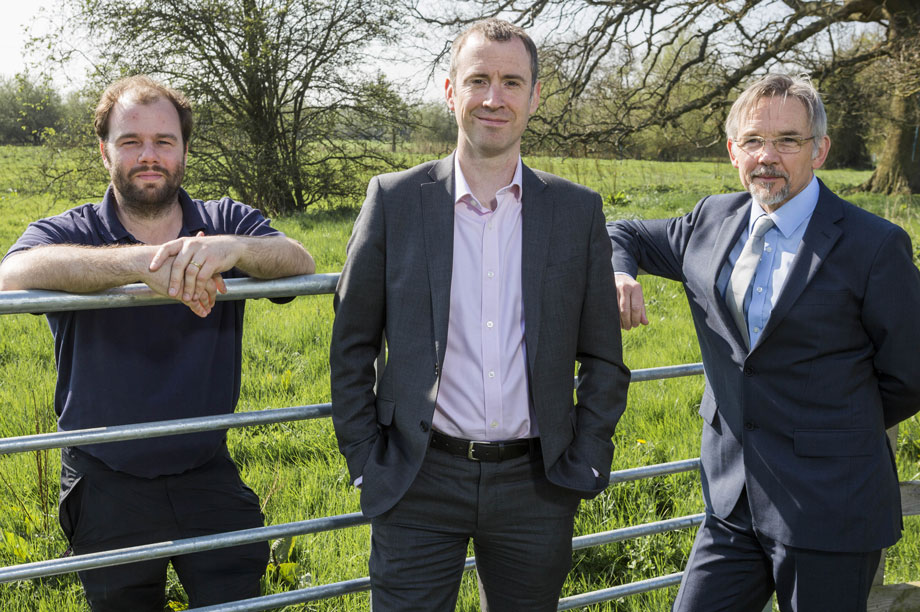 Natural alternative: EPR managing director Ben Kite (left) at the Langley Mead SANG, with Nick Paterson-Neild, director at planning consultants Barton Willmore (centre), and University of Reading strategic estates manager Nigel Frankland