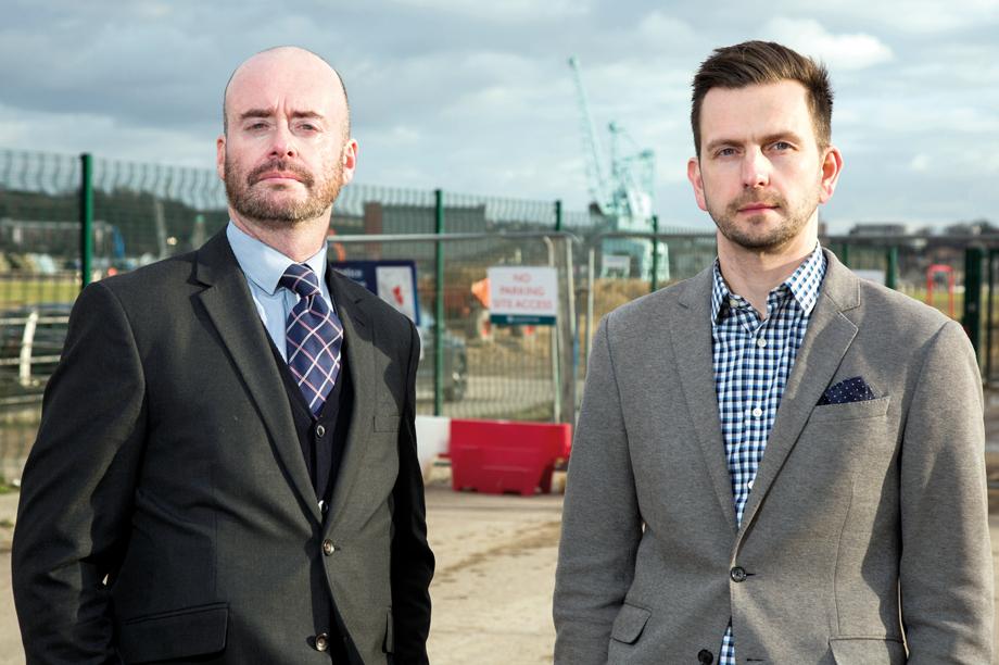 bptw partnership's planning director Gerry Cassidy and bptw partnership's architect director Chris Bath (pic: Julian Dodd)
