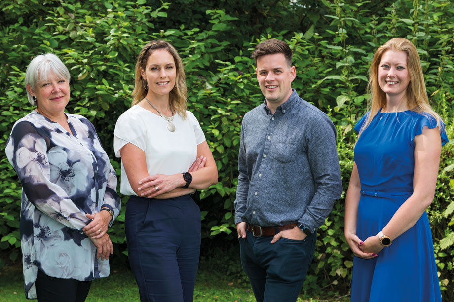 Lake District National Park Authority (l-r): Paula Allen, strategy planner; Hannah Latty, team leader, strategy and planning policy; Robert Allison, strategy planner and Laura Ross, strategy planner