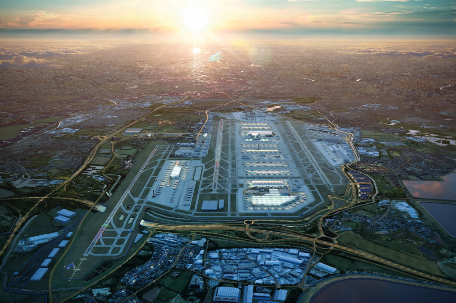 A visualisation of the proposed Heathrow Airport expansion. Image: Heathrow Airport