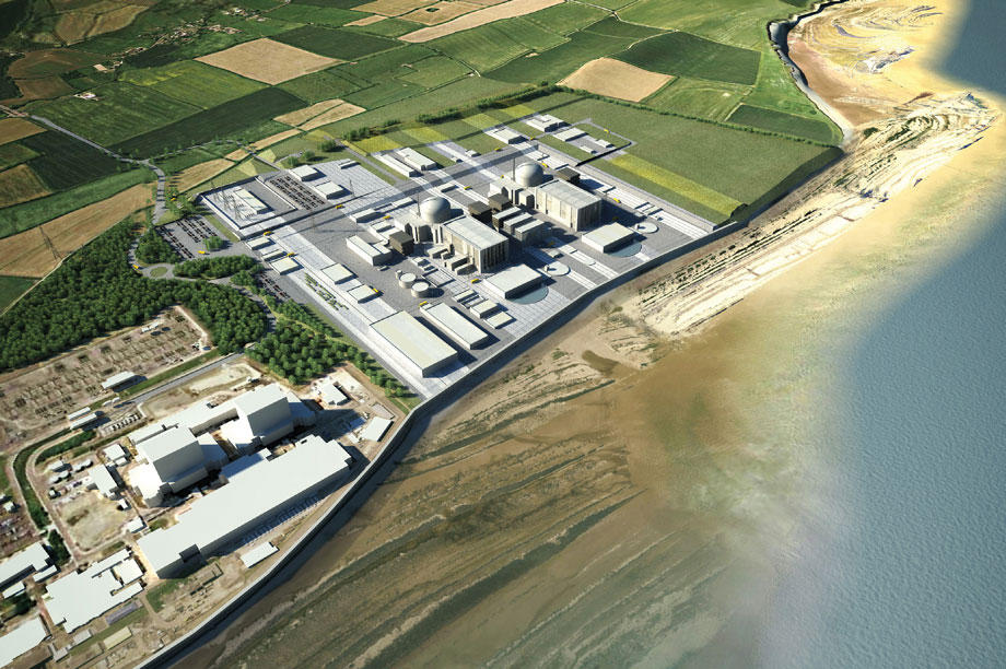 A visualisation of the finished Hinkley Point C development