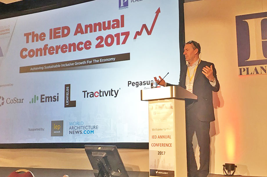 Jim O'Neill speaking at the event yesterday