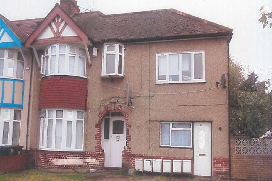One of Vispasp Sarkari's properties on Kenmore Road, Harrow