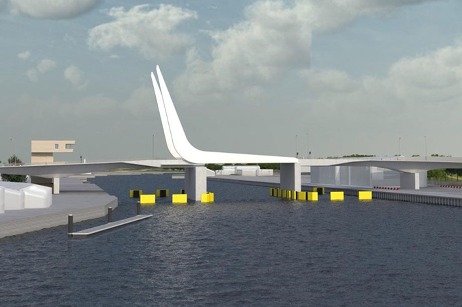 A visualisation of the new bridge. (Pic: WSP)