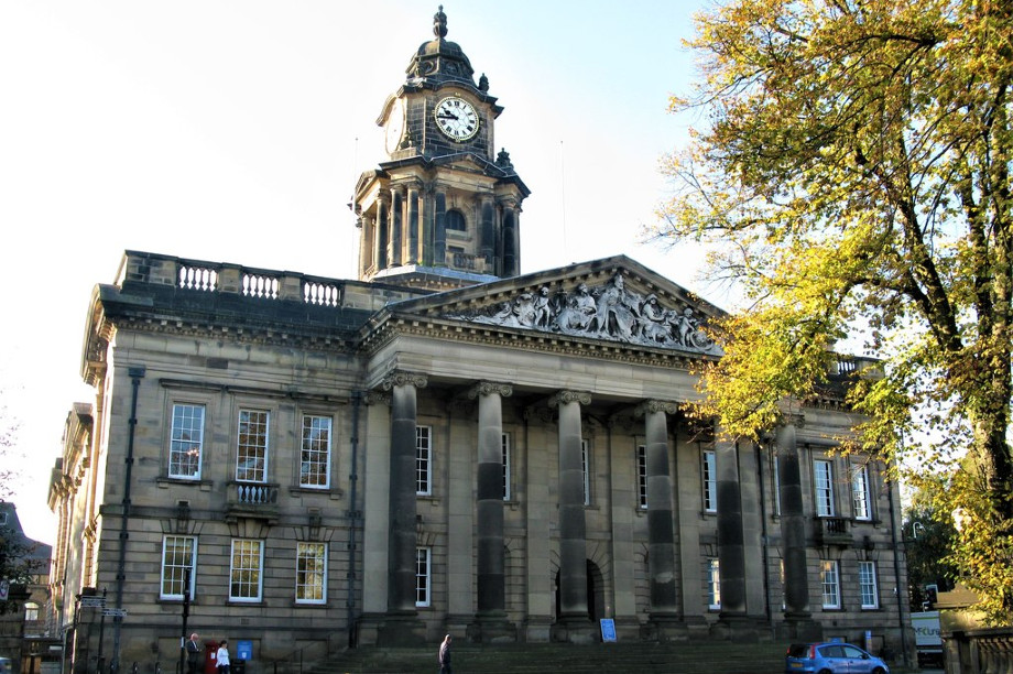 Lancaster Town Hall. Image: Geograph / G Laird
