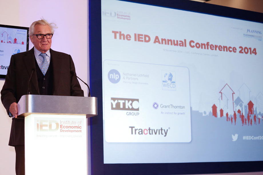 Lord Heseltine speaking at the IED Annual Conference this morning