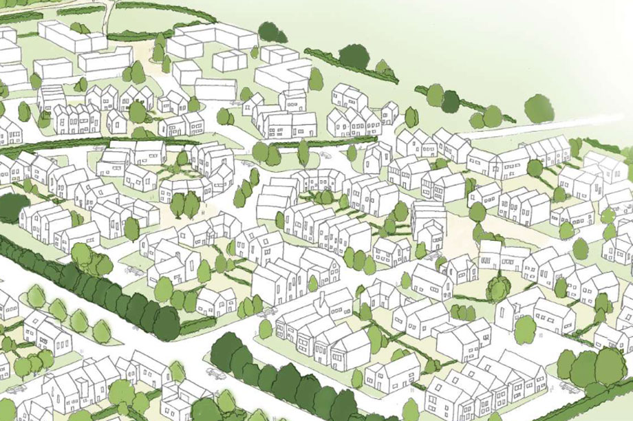 A visualisation of part of the Swindon scheme (pic: Ainscough Strategic Land)