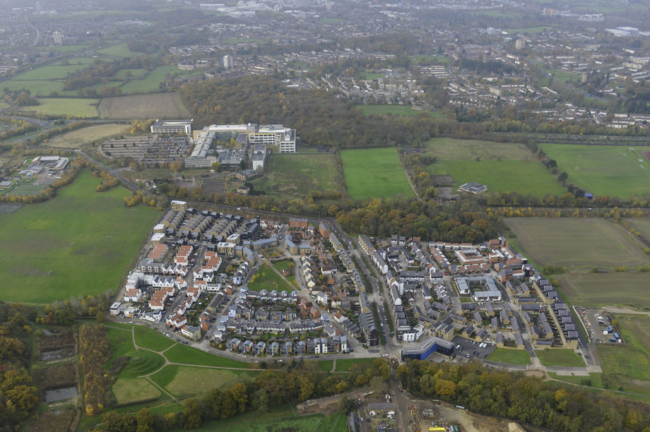 The Newhall urban extension in Harlow