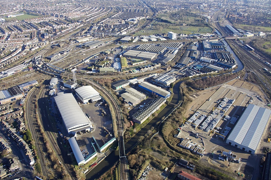 An aerial view of Old Oak Common. Pic: OPDC