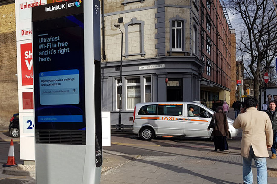 One of the new-style phone kiosks cropping up across London