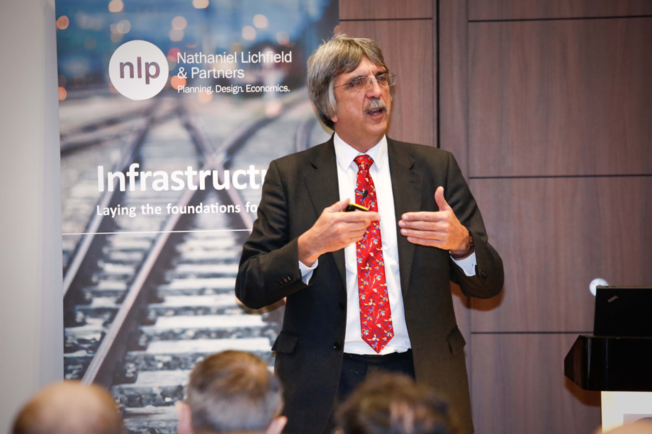 Chief planner Steve Quartermain speaking at yesterday's IED Conference