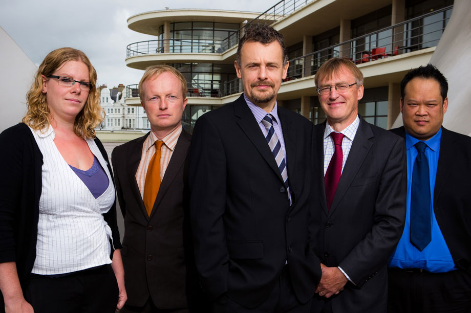 Rother Council core strategy team: principal planning officers Nichola Watters and Roger Comerford, service manager for strategy and planning Tim Hickling, planning policy manager David Marlow, and principal planning officer Norman Kwan