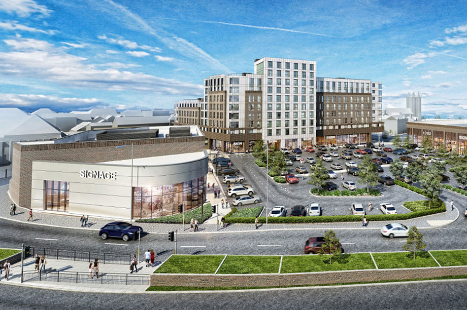 An artist's visualisation of the finished scheme