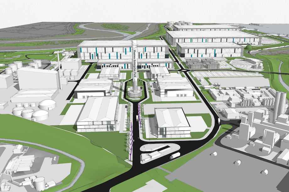 A visualisation of the proposed Thames Enterprise Park in Thurrock