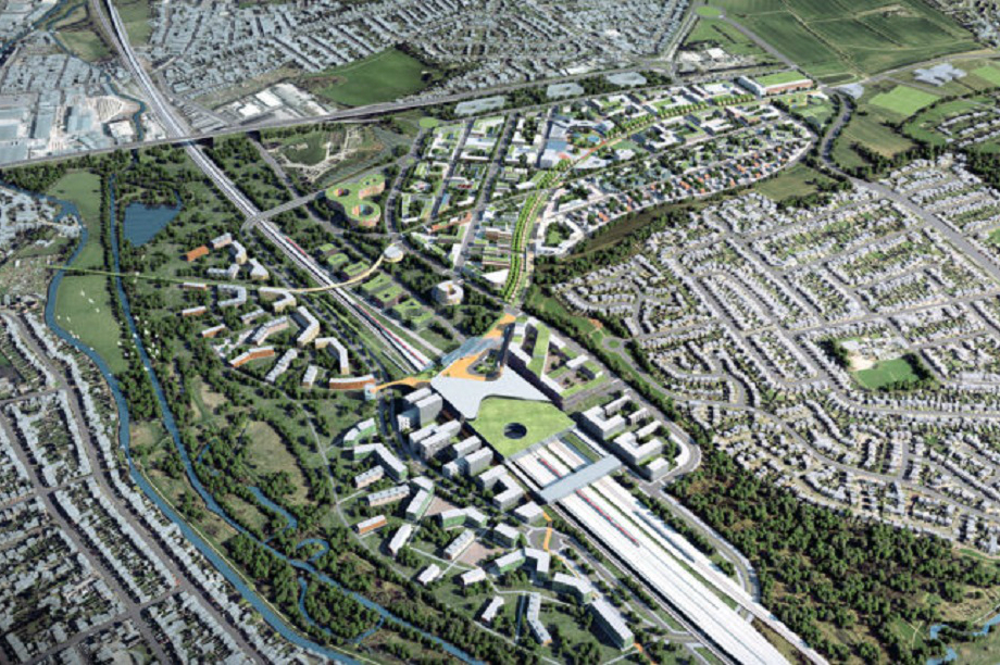 Proposals for the redevelopment of Toton in the East Midlands. Pic: HS2 Ltd/Midlands Connect