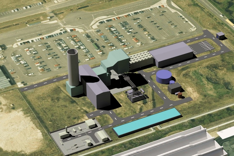 An impression of the planned new gas-fired power station - image: Vitol Group