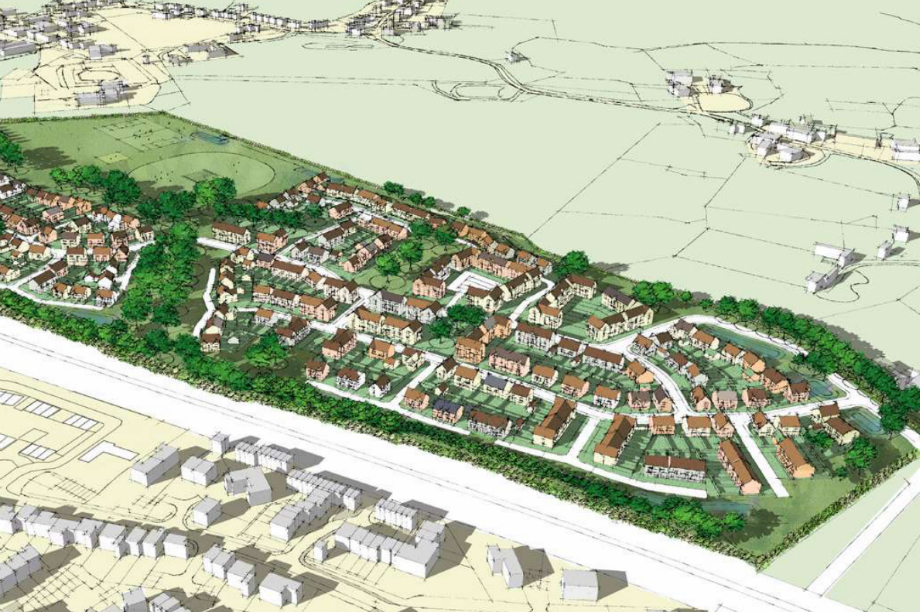 An artist's impression of plans for Oxford Brookes University's Wheatley campus.