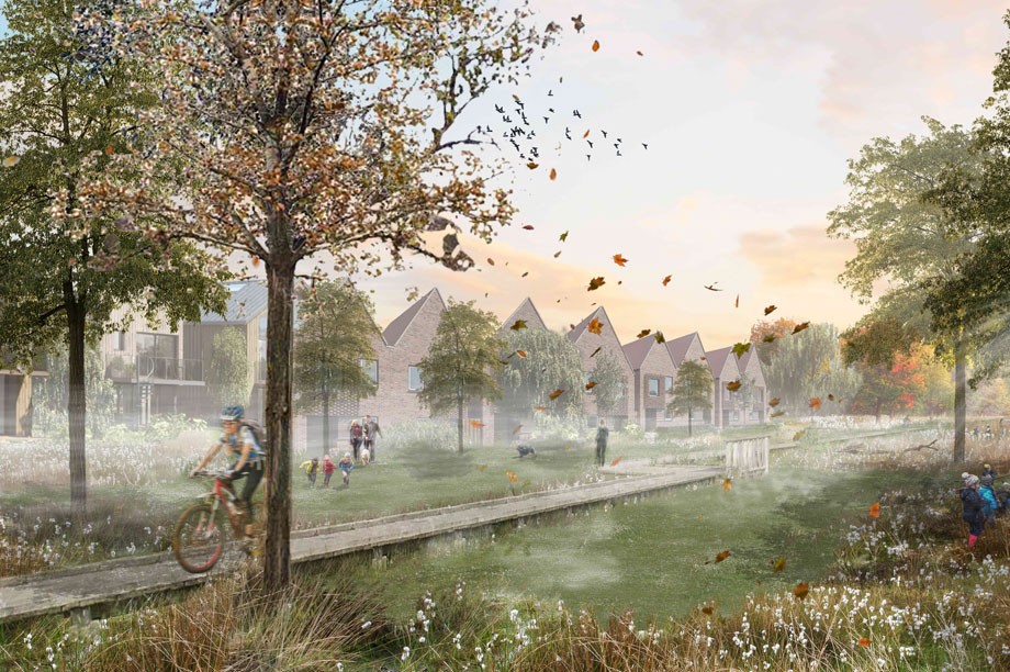 A visualisation of the finished Wintringham development