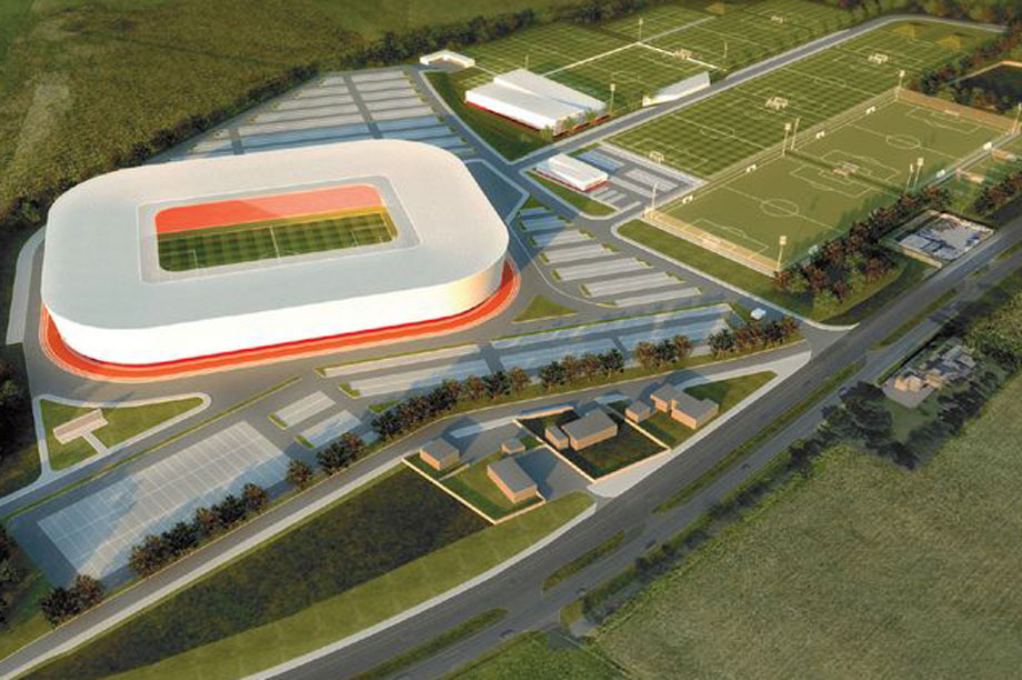 An artist's impression of the finished scheme