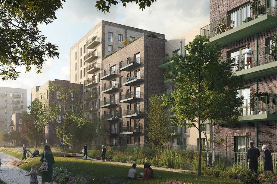 A visualisation of the initial proposals for the estate revamp (pic: Home Group)