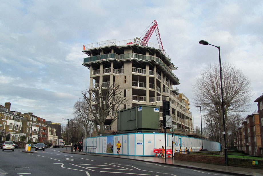 New development: a building site in London. Image by David Holt, Flickr