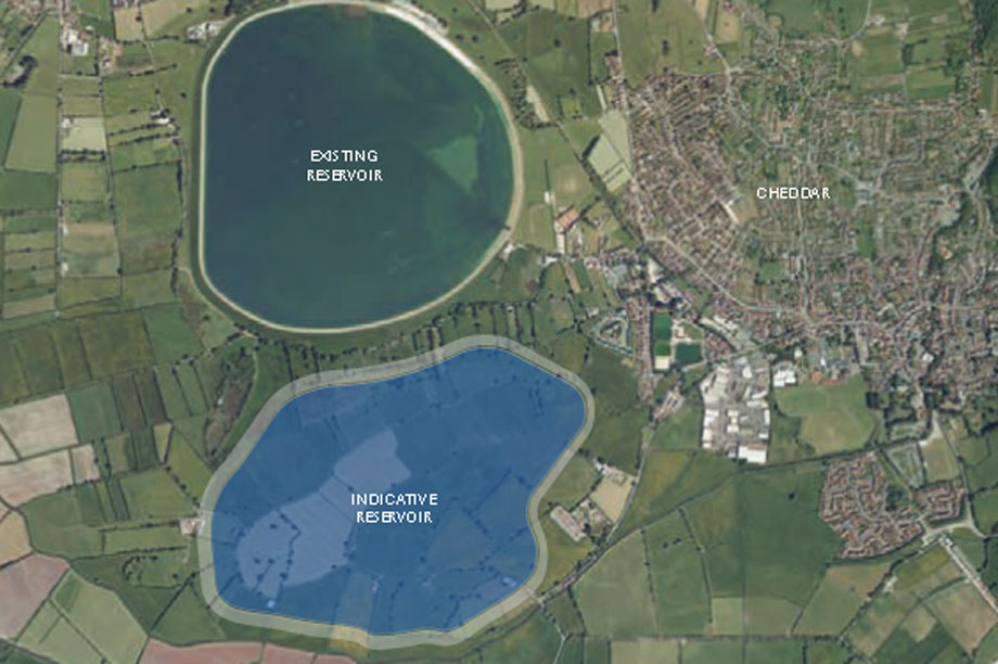 A visualisation of the proposed reservoir (pic courtesy Bristol Water)