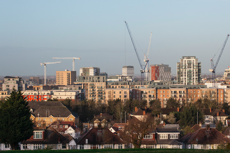 Construction activity in Colindale, Barnet (Pic: Getty)