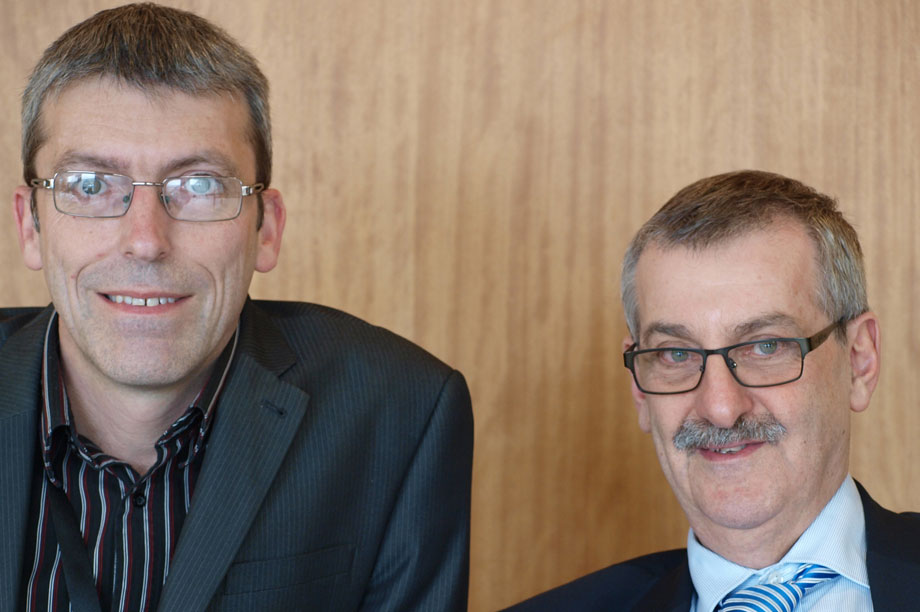 Getting orders: Cornwall Council senior legal officer Tim Walmsley and DWF head of planning John Moritz helped secure development consent for upgrading road