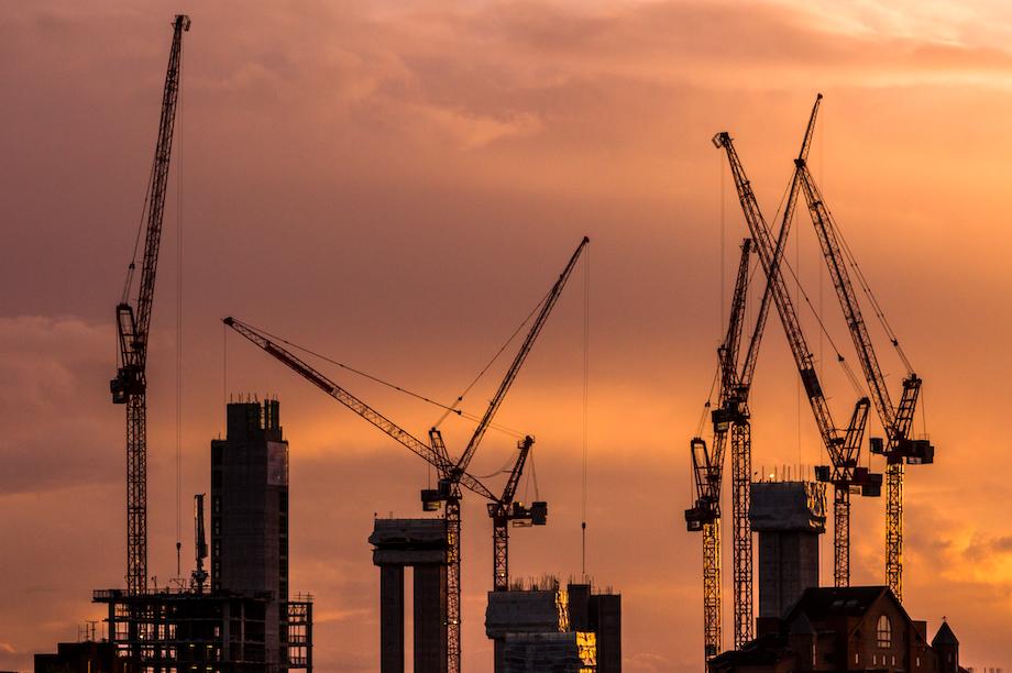 Construction equipment on London skyline (Pic: Getty)