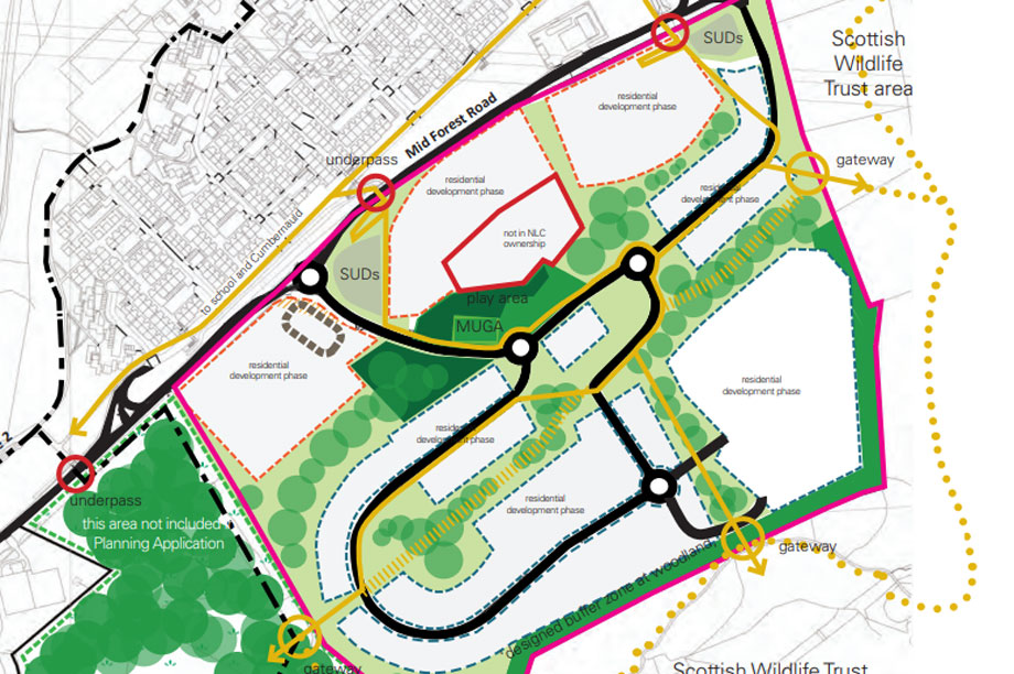 A masterplan visualisation of the development. (pic: North Lanarkshire Council)