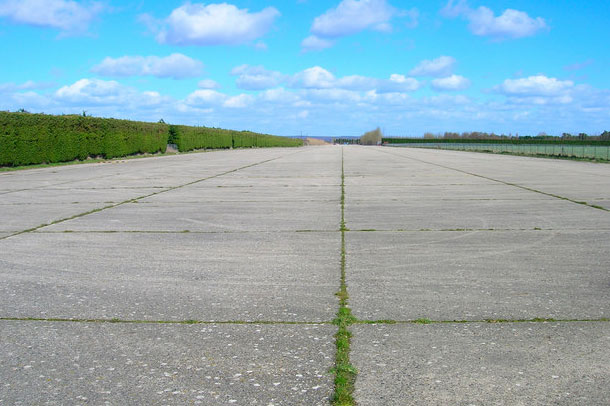 Ford Airfield: site allocated in neighbourhood plan (pic: Simon Carey via Geograph)